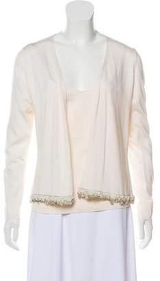 Akris Embellished Silk Cardigan Set