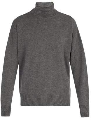 Ami Oversized Roll Neck Sweater - Mens - Grey