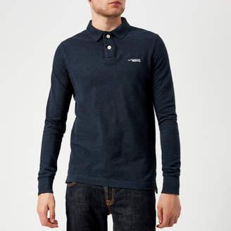 Superdry Men's Classic Long Sleeve Pique Polo Shirt