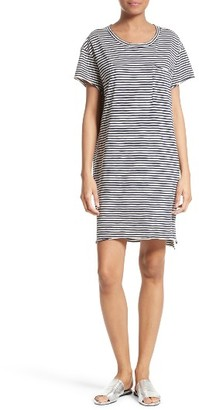 Women's Atm Anthony Thomas Melillo Stripe Slub Jersey Boyfriend Dress $245 thestylecure.com