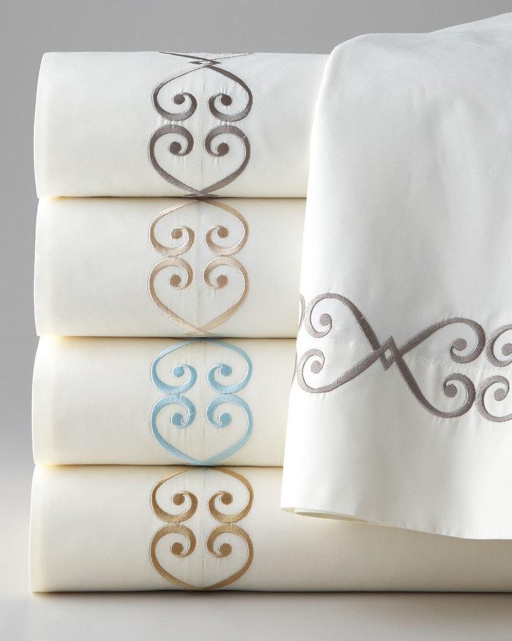 "Dian Austin Couture Home Pieced Pillow w/ Damask Center, 20""Sq."