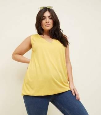 9f4717667f877c New Look Curves Yellow V Neck Bubble Hem Vest