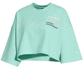 FENTY PUMA by Rihanna Graphic Short Sleeve Crop Sweatshirt