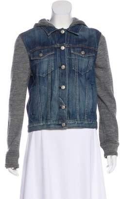 Rag & Bone Wool-Accented Denim Jacket