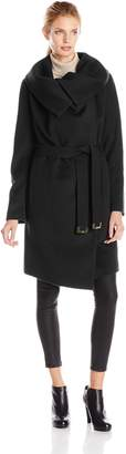 Diane von Furstenberg Women's Beaux Belted Wool Coat