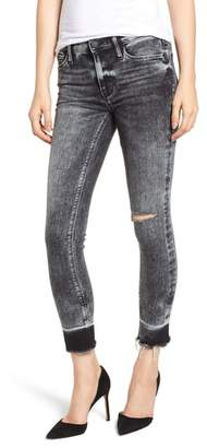 Hudson Nico Raw Hem Crop Super Skinny Jeans