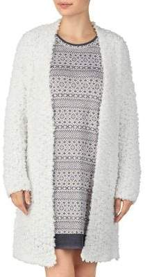 Ellen Tracy Textured Open-Front Robe