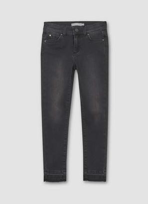 Mint Velvet Washed Black Let Down Hem Jean