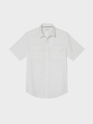 DKNY Tech Poplin Short Sleeve Button Down