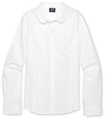 Izod Peter Pan Collar Long-Sleeve Shirt - Girls 4-18 and Girls Plus