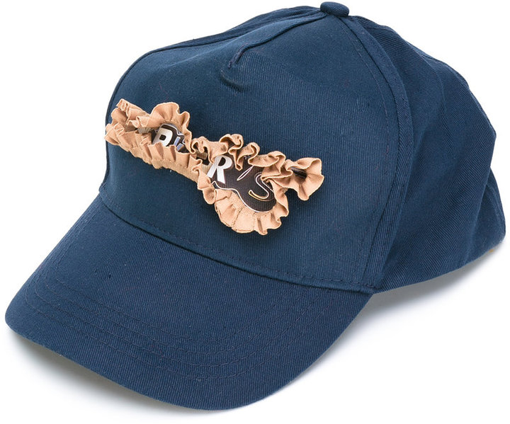 Bless Bless ruffled detail cap