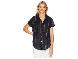 Hurley Short Sleeve Wilson Static Top Women's Clothing