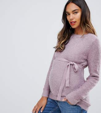 Mama Licious Mama.licious Mamalicious waist tie sweater