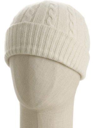 Portolano ivory cashmere baby cable hat