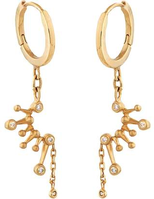 Celine Daoust Diamond Constellation Hoop Earrings