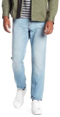 J Brand Kane Raw Hem Straight Leg Jeans