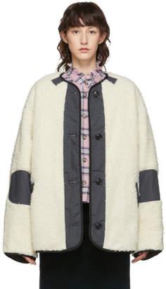 Etoile Isabel Marant Off-White Faux-Fur Padded Demma Coat