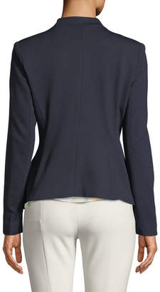 Carmen Marc Valvo Carmen By Zip-Pocket Open-Front Blazer Jacket