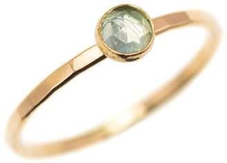 FEATHER+STONE - Gold Blue Topaz Ring