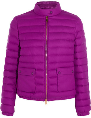 Moncler - Actea Quilted Cashmere Down Jacket - Magenta $1,890 thestylecure.com