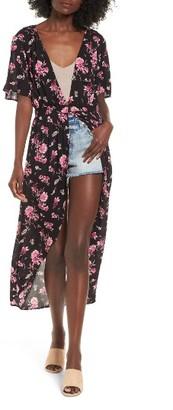 Women's Bp. Floral Print Maxi Cardigan $55 thestylecure.com