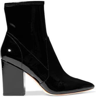 Loeffler Randall Isla Patent-leather Ankle Boots - Black