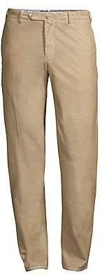 Pt01 Men's Slim-Fit Flat Front Trousers