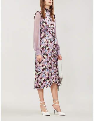 Erdem Sebla floral-print silk-satin midi dress