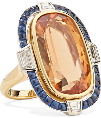 Fred Leighton Collection 18-karat Gold And Platinum Multi-stone Ring
