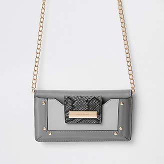 River Island Dark grey purse cross body bag