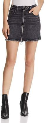 Paige Aideen Denim Mini Skirt in Myra