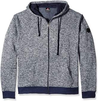 Southpole Men's Big and Tall Hooded Full Zip Fleece Basic