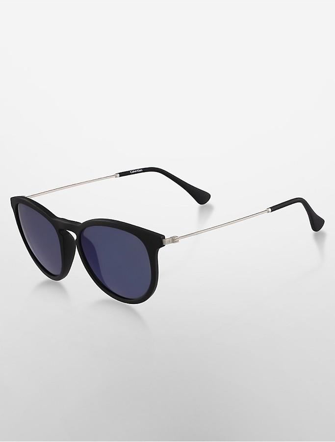 Calvin KleinPlatinum Round Sunglasses
