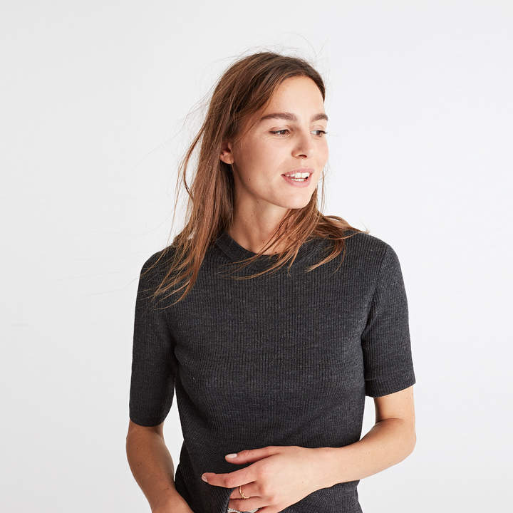 Ribbed Sweater Top