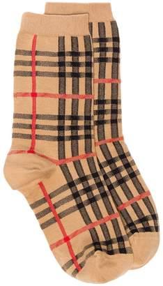 Burberry brown Vintage Check cotton socks