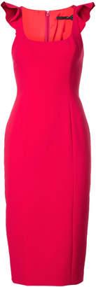Jay Godfrey sleeveless ruffled midi shift dress