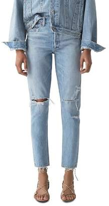 A Gold E AGOLDE Jamie High Rise Tapered Jeans in Shakedown