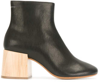 MM6 MAISON MARGIELA wood heel boots