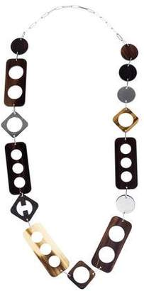 Hermes Perforation Long Necklace