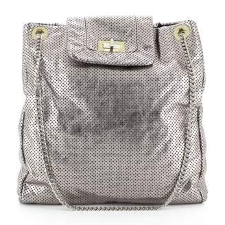 Chanel Silver Leather Handbags