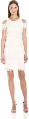 Jessica Simpson Women's Cold Shoulder Lace Pop Over Dress