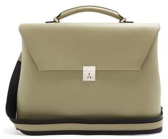 Valextra Grained-leather briefcase