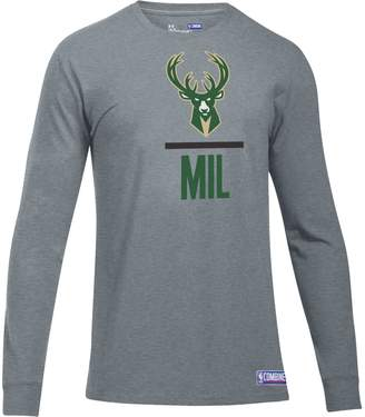 Under Armour Men's Milwaukee Bucks Charged Lockup Long-Sleeve Tee