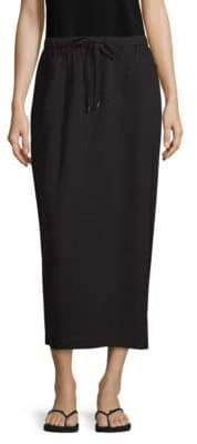 Eileen Fisher Drawstring Cotton Gauze Midi Skirt