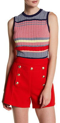 Lucy Paris Printed Sweater Tank $60 thestylecure.com