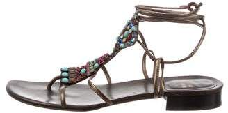 Stuart Weitzman Alaking Wrap-Around Sandals