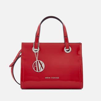 Bolsa logo mujer Exchange para pequeña rojo con de asas Armani de PnwfrSHqP