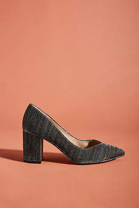 Anthropologie Shine Bright Tweed Heels