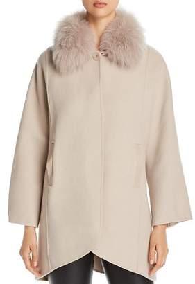 Elie Tahari Howie Fur Collar Coat