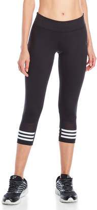 adidas Black Mesh Three-Quarter Leggings